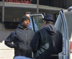 The set of the new Rocky movie 'Creed'
