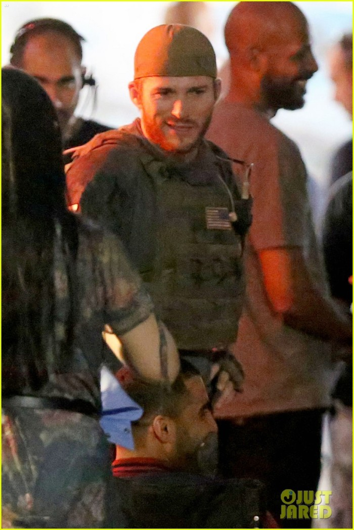 EXCLUSIVE: Will Smith and Scott Eastwood film scenes for 'Suicide Squad' with Adewale Akinnuoye-Agbaje in full costume as Killer Croc